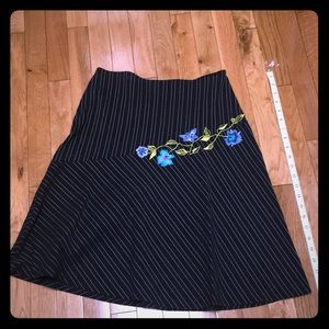 Pin-striped Aline skirt